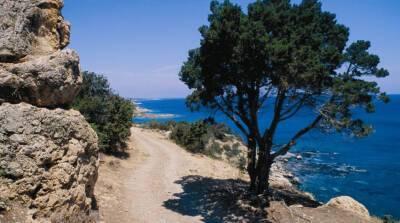 На Кипре машина сорвалась с утеса в море